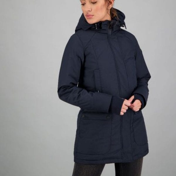 Airforce Dames Slimfit Parka Dark Navy Blue